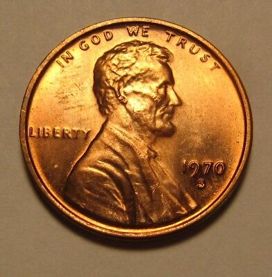 1970 S Small Date Lincoln Cent Penny - BU Condition - 38SU