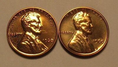 1960 Small / Large Date Lincoln Cent Penny Proof - Mixed BU Condition - 40SU