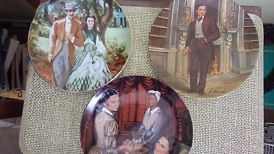 Lot of 3 GONE WITH THE WIND COLLECTOR PLATES-KNOWLES/GEORGE-Rogers/Kursar-EUC