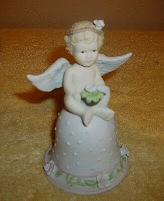 """A PORCELAIN ANGLE BELL 4 3/4"""" Tall VERY NICE COLLECTIBLE"""