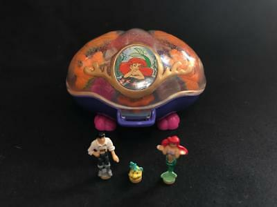 1996 polly pocket DISNEY LITTLE MERMAID compact 100% complete