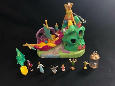 1997 DISNEY Polly pocket PETER PAN - NEVERLAND ISLAND  100% complete rare