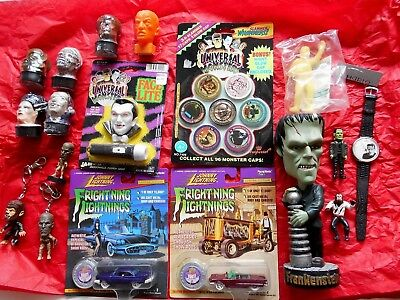 Lot of 18 Universal Monster novelties watch candle Frankenstein Mummy toy