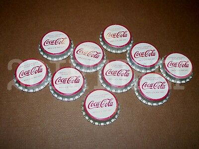 10 VINTAGE COCA-COLA COKE SODA 1960's NICE POP COLA OLD CORK UNUSED BOTTLE CAP
