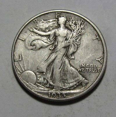 1935 D Walking Liberty Half Dollar - Very Fine + Condition - 140SU