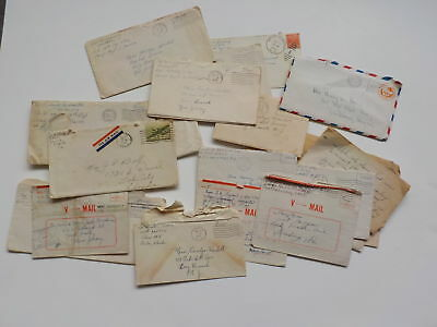 20 WWII Letters Military Servicemen World War Two VTG WW11 Covers WW II WW2 Lot