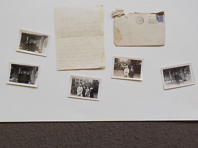 WWII Letter 1943 Photos Waynesburg Pennsylvania 43rd Bomb Group WW2 South Bend