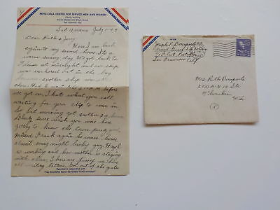 WWII Letter 1944 Pepsi Cola Service Center WW2 Milwaukee WI Bonaparte Joseph