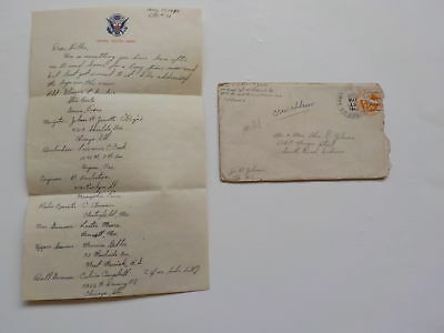 WWII Letter 1945 Dropping Bombs Island Bomber Crew Named 43rd Bomb Group WW2 VTG