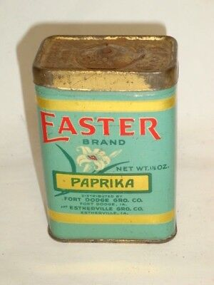 Nice Old Litho General Store Easter Brand Paprika Advertising Spice Tin Can