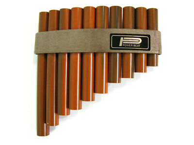 PAN FLUTE 10 Hole Synthetic Wood-Looking Pipes Tunable Diatonic