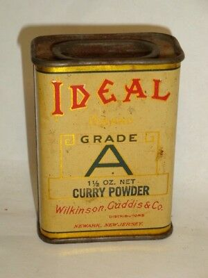 Nice Old Litho General Store Ideal Brand Curry Powder Advertising Spice Tin Can