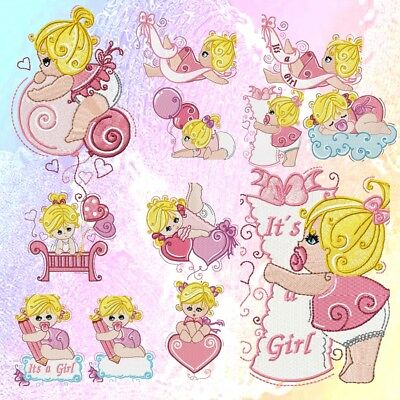 Baby Girls 9 Machine Embroidery Designs Cd