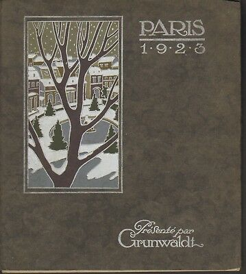 Grunwaldt Fur Company Paris France 1923 Catalog Nine Color Serigraphed Images