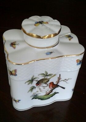 Herend Tea Caddy, Rothchild pattern