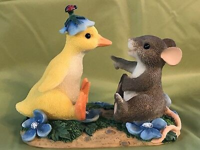 """Charming Tails By Fitz & Floyd  Figurine """"you Quack Me Up"""""""
