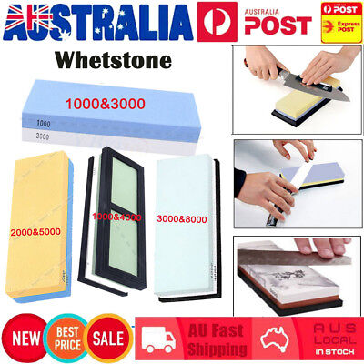 Dual Whetstone Waterstone Knife Sharpening Water Wet Stone Sharpener 3000&8000