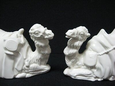 lot 2 ceramic sitting camel figures