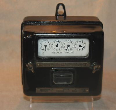 vintage GE Thompson High Torque Watthour Meter - General Electric - steampunk