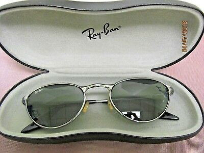 FINAL SALE PRICE Vtg Ray Ban Sunglasses Chrome with Green Lenses & Case