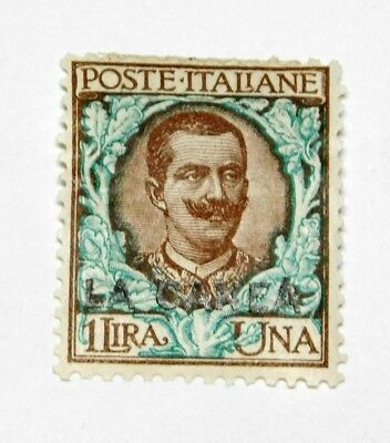 Scott 12  1 Lira Italy Offices in Crete  mint hinged  value  $45.00