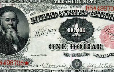 HGR SUNDAY 1891 $1 Treasury Note ((Stanton)) HIGH GRADE