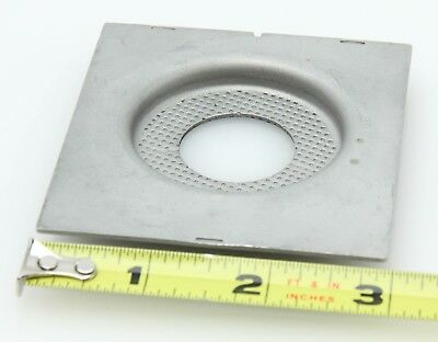75mm x 81.8mm recessed metal lens board 26.5mm opening 369074