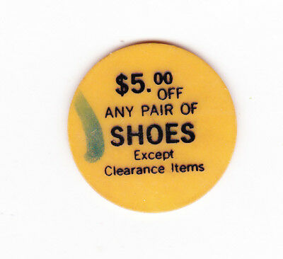 Nevada Bob's Golf Store $5.00 Off Any Shoes Plastic Token