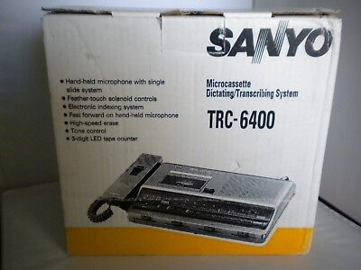 Sanyo TRC-6400 Microcassette Dictating Transcribing System / Brand New