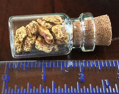 Genuine and natural Australian Gold Nuggets; 5.00 gram inside vial