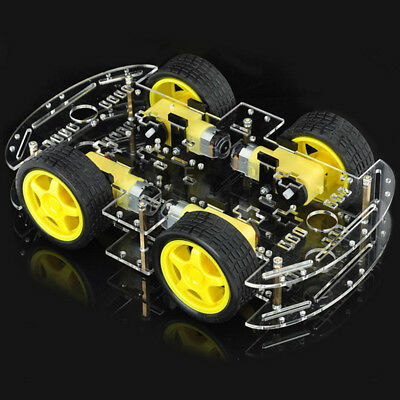 For Arduino Robot Car Kit 4WD Chassis Speed DC Motors Wheels Acrylic Plates