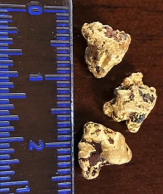 3 genuine, natural Australian Gold Nuggets 4.59 grams