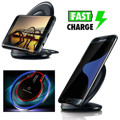 Fast Qi Wireless Charger Charging Pad Stand Dock for Samsung Galaxy S6/S7 Edge