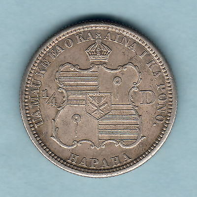 USA - Hawaii.  1883 Quarter Dollar..  Part Lustre..  EF/gEF