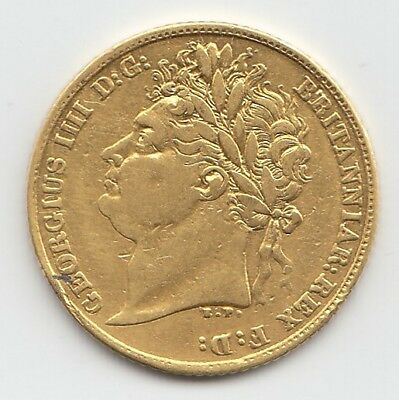 1823 George IV Gold Half Sovereign