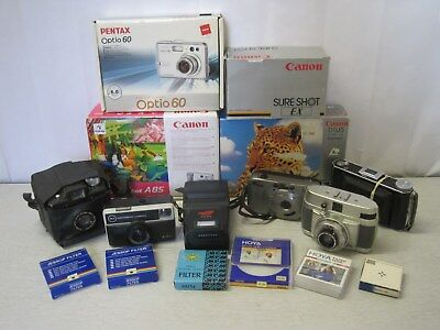 Job Lot of Vintage Cameras and Accessories for Spares and Repairs