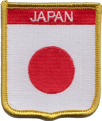 Japan Flag Shield Embroidered Patch Badge