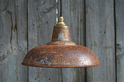 Rusty barn pendant light industrial style workshop hanging ceiling lamp RBLG3