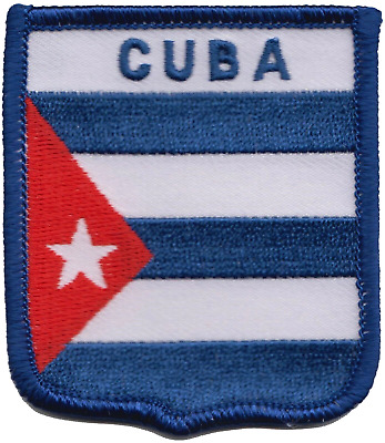 Cuba Flag Embroidered Patch Badge