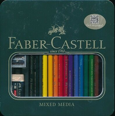 Faber-Castell Art and Graphic Polychromos Castell 9000 Mixed media tin case set