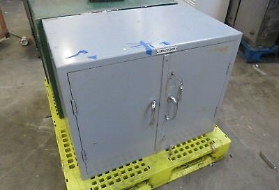 Grey Stratford strong hold cupboard safe from bank clearance industrial upcycle