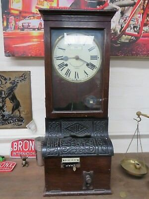 Antique Blick time recorder clocking in machine Autok Park lane & oxford row