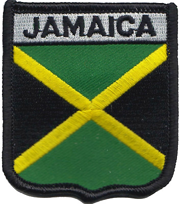 Jamaica Flag Shield Embroidered Patch Badge