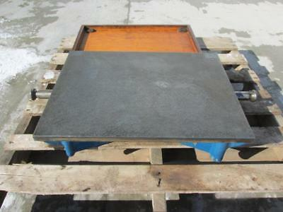 "Brown & Sharpe Cast Iron 24"" x 18"" Steel Surface Plate Machinist Inspection"