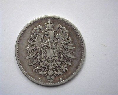 Germany 1883-D Silver Mark  Choice Extremely Fine