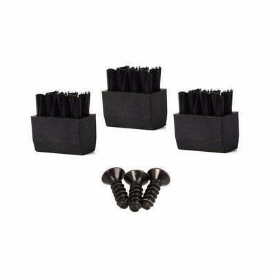 Arrow Brushes Faux Leather 3x for Hostage Bow Black Pro Brush Rest Screw 3pcs