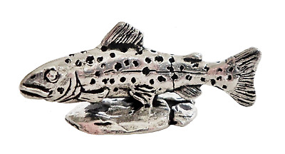 Brown Trout Pewter Ornament - Hand Made in Cornwall