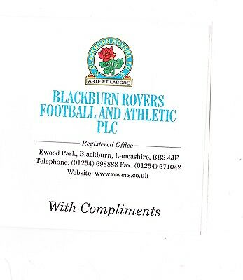 BLACKBURN ROVERS.LATE 1990s BIRTHDAY CARD SIGNED BY  ELEVEN PLAYERS.ORIGINAL