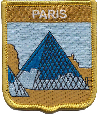 France Paris Louvre Museum Glass Pyramid Embroidered Patch Badge