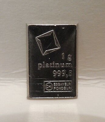 One Gram - 1 g - .9995 Fine - Platinum Bar